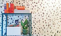 Dalmatian Allover Spot Stencil in black and white $35.95