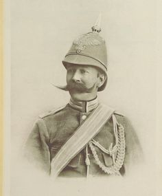 Hugo von Francois of the German Schutztruppe, killed in 1904 during the Herero uprising (Namibia), I am in awe of the moustache.