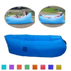 Greatever Outdoor Inflatable Lounger,Quality Waterproof,Inflates Quickly,Lounge Chair,Air Sleep Sofa/Couch,Compression Air Bag for Camping,Pool Party,Relax Rest (Dark Blue) ** Find out more about the great product at the image link.