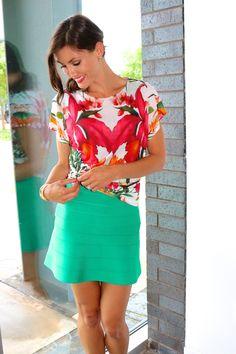 Ted Baker Shirt // Herve Leger Dress // shirt knots // summer chic // Liberté