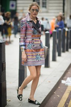 Pin for Later: The Best of Paris Fashion Week Street Style (Updated!) LFW Street Style Day 3 Olivia Palermo just proved she can pull off any print.
