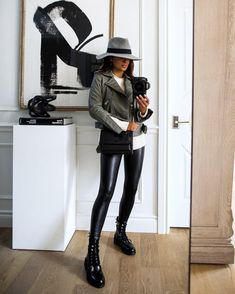 Fashion blogger mia mia mine wearing AllSaints Combat Boots from the Nordstrom Anniversary Sale. The shiny combat boots are super easy to dress up or down with faux leather leggings or even mini skirts. Score these boots for over 40% off during the Nordstrom Anniversary Sale. #combatboots #womensfashion #ootd Leather Leggings Outfit, Faux Leather Leggings, Faux Leather Jackets, Combat Boot Outfits, Combat Boots, All Saints Leather Jacket, Nordstrom Anniversary Sale, Sweater Shop, Fall Outfits