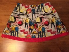 Little girl/toddler skirt featuring your friends from the Enterprise, Kirk, Sulu, Uhura, and Spock can all be found on this adorable Star Trek