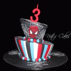 unique spiderman birthday cake!
