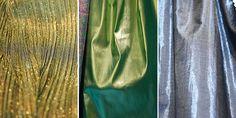 BRILHO  O brilho esteve presente tanto em materiais fluídos quanto nos mais estruturados. Os acabamentos transitaram entre acetinados e metalizados, e, ainda, com aspecto de de aplicação de glitter.