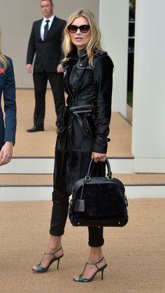 Kate Moss Photos: Arrivals at Burberry Prorsum