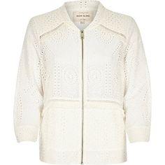 Cream crochet bomber jacket �60.00