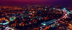 Areal View of Delhi at the time of Night