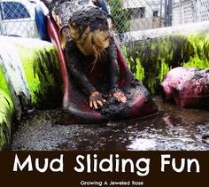 From growingajeweledrose.com: 30+ Mud Activities to Celebrate International Mud Day!  Cool!!!