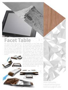 【家居用品设计】Facet Table  设计项目过程记录模板~