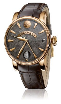 Arnold & Son True Moon Meteorite... accurate moon phase representation with a meteorite face. Gorgeous.