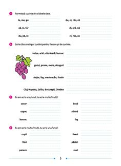 Caiet de aplicații - Comunicare în limba română - clasa a II-a - Clasa a II-a - Nivel (Clase) Worksheets, Letters, Reading, School, Letter, Reading Books, Literacy Centers, Lettering, Countertops