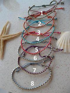 Friendship Bracelet Macrame Bracelets Rhinestone by SwedishShop