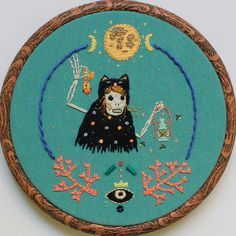'Fireflies walk with me'  #embroidery #handembroidery #art #fiberart #illustration