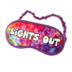 Lights Out Glow in the Dark Rainbow Sleep Mask | Claire's