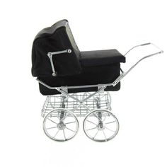 Fabulous English Made Pram Baby Carriage w Leather Interior   Like the one my mother had for me