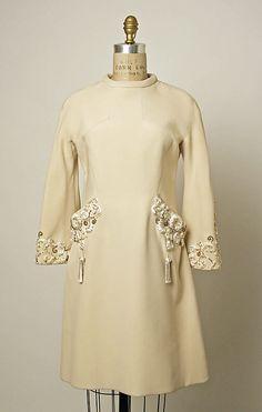 Cocktail dress  Valentino (Italian, born 1932)  Date: ca. 1969 Culture: Italian Medium: silk, glass, rhinestones Dimensions: Length at CB: 35 1/4 in. (89.5 cm) Credit Line: Gift of Joanne T. Cummings, 1976