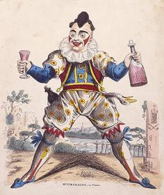 Joseph Grimaldi was Britain's greatest clown. He introduced the idea of the pantomime dame , the concept of the tragi-comic clown and encouraged audience participation. Circus Art, Circus Clown, History Of Clowns, Famous Clowns, Joseph, Le Clown, Clown Faces, Horror, The Last Laugh