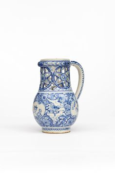Delft Puzzle Jug, with Putti frolicking with Blackamoor and Lady Rotterdam.   Aronson of Amsterdam http://www.aronson.com/