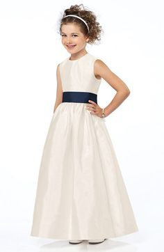 Free shipping and returns on Dessy Collection Sash Detail Sleeveless Dupioni Flower Girl Dress (Toddler, Little Girls & Big Girls) at Nordstrom.com. In a luminous dupioni dress that's almost as charming as she is, the sleeveless bodice is married with the full, floor-length skirt by a cummerbund-inspired sash detailed with an extravagant handcrafted flower.