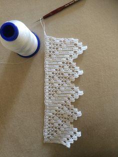 Best 12 Venise Lace Trim, off white lace trim, bridal trim lace, crochet leaves lace trim, Crochet Lace Edging, Crochet Leaves, Crochet Borders, Cotton Crochet, Crochet Trim, Love Crochet, Hand Crochet, Crochet Stitches, Crocheted Lace