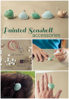 DIY Painted Seashell Accessories, a fun craft to do with your kids!