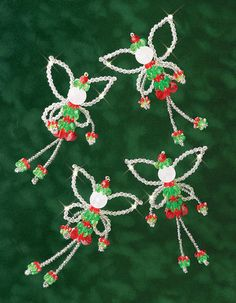 "Holiday Beaded Ornament Kit - Christmas Fairies, 4.5"", Makes 6  $8.49"