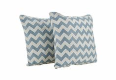 High St. Accessories Pair Of Sky Zig Zag Scatter Cushions