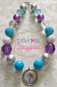 Frozen Elsa Chunky Bubblegum Necklace