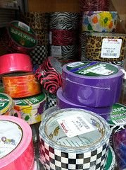 Colored and patterned ducktape