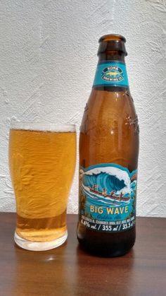 Big Wave from the Kona brewery in Kona Hawaii. A Golden Ale with a very unique fragrant aroma. No hoppy taste at all but very smooth, goes down too easily could drink this all day if it wasn' t so expensive. Hawaiian imports aren't cheap. Top beer one of the best Golden Ales I've had. Never saw this on sale when I was in Kona?