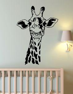 Vinyl Wall Art Decal Sticker Giraffe Neck for Kids Room #145
