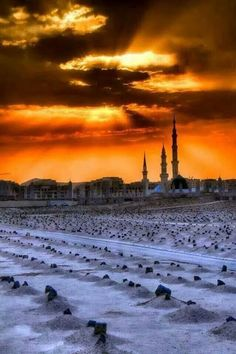 Maqbaratul Baqī' is a cemetery in Medina. Take to me Madinah.