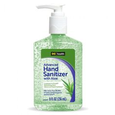 Dg Health Hand Sanitizer With Aloe 8 Oz Hand Sanitizer Aloe