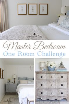 French Farmhouse Style Master Bedroom Makeover - One Room Challenge Reveal! From Dated and Drab to French-Inspired Retreat! ---> French Farmhouse Style Master Bedroom Makeover - One Room Challenge Reveal! From Dated and Drab to French-Inspire Farmhouse Style Bedrooms, French Farmhouse Decor, French Country Bedrooms, Farmhouse Master Bedroom, Master Bedroom Makeover, Master Bedroom Design, French Country Decorating, Bedroom Country, Master Room