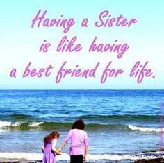 Karima's Crafts inspirational poster having a sister is like having a best friend