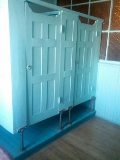 Bathroom Partitions Paint bathroom stall, salvaged doors. | gatherings | pinterest