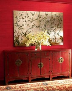Chinese sideboard Chinese style home deco. Asian inspired design