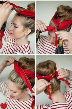 Surprising Buns And Bandanas On Pinterest Hairstyle Inspiration Daily Dogsangcom