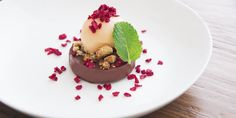 An indulgent sorbet recipe by Andrea Sarri, this dessert combines the classic combination of chocolate and orange.