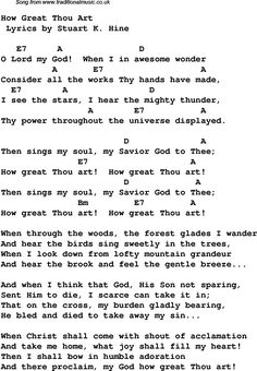 my god is an awesome god lyrics and chords | Download these lyrics and chords as PNG graphics file For DTP etc (no ...