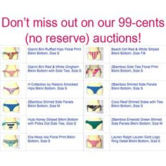 We are offering designer brands like Calvin Klein, DKNY, Marc Jacobs, BCBG, Ralph Lauren \u0026amp; more in our 99-cents auctions - with NO reserve! Shop link in ...
