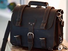 Cool bag, high priced at $600.00 but it will last you a lifetime and then some!  Saddleback Leather Briefcase