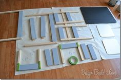 Tutorial showing makeover of Ikea LATT table & chairs - didn't think about painting it before assembly, very clever!