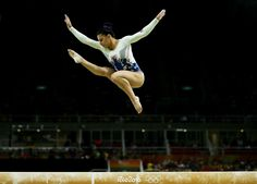 RIO DE JANEIRO, BRAZIL - AUGUST 09: Claudia Fragapane of Great Britain competes on the balance beam during the Artistic Gymnastics Women's Team Final on Day 4 of the Rio 2016 Olympic Games at the Rio Olympic Arena on August 9, 2016 in Rio de Janeiro, Brazil. (Photo by Lars Baron/Getty Images)