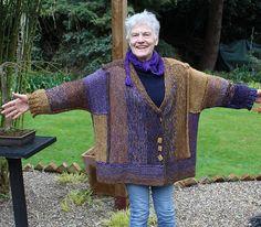 Crochet Infinity Scarf Free Pattern, Cardigan Pattern, Kimono Cardigan, Hand Knitting, Knitting Patterns, Knitting Ideas, Knitting Projects, I Cord, Seed Stitch