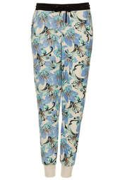 Textured Tropical Print Joggers
