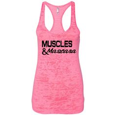 Muscles & Mascara Workout Tank Gym Tank Lifting Tank Running Tank... ($18) ❤ liked on Polyvore featuring activewear, activewear tops, black, tanks, tops and women's clothing