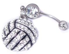 Volleyball Belly Button Ring
