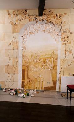 Crama Domnească. Pictură parietală decorativă. 5 Ceilings, Floors, Walls, Ceiling, Home Tiles, Flats, Floor, Flooring